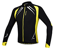 Santic Men's Cycling Jacket/Cycling Jersey Long Sleeve Warm Fleece Windproof Cycling Jacket Spandex+Fleece