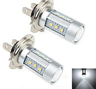 2Pcs H7 15W 15x Samsung 2323 SMD 1000LM 6000K White Light LED for Car Steering Signal Light  (DC 12-24V)