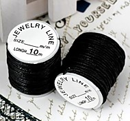 Handmade Wax Rope Black10m (1Roll)
