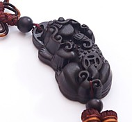 Duo Ji Mi ® The Mythical Wild Animal Ebony Chinese knot Car Pendant Hanging Decorations