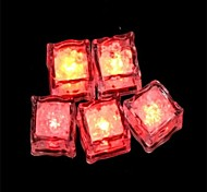 LED Light Touch Shiny Red  Ice Cubes (12PCS)