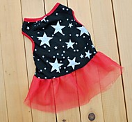 Lovely Star Black Ruffle Chiffon Dress for Pet Dogs (Assorted Sizes)