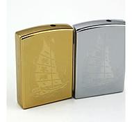 Personalized Engraving Sailing Pattern Metal Electronic Lighter