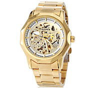 WINNER® Men's Watch Automatic self-winding Skeleton Watch Hollow Engraving Stainless Steel Band Wrist watch / Butterfly Cool Watch Unique Watch