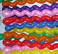 100 unidades de 2 gramas de flores de cânhamo parafuso brinquedos para crianças, balões de látex (cores aleatórias)