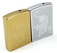 Personalized Engraving Tiger Pattern Metal Electronic Lighter