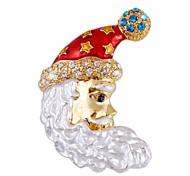 Fashion Colorful Christmas Santa Avatar Shape Brooch