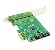Low Profile Dual Ports Internal PCI-Express SATA 3.0 6Gb/s Expansion Card Marvell Chipset
