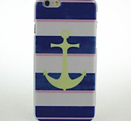 Striped Yellow Anchor Pattern Hard Case for iPhone 6