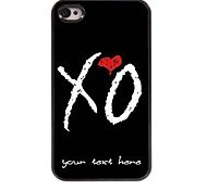 Personalized Phone Case - X O Design Metal Case for iPhone 4/4S