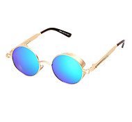 100%UV400 Round Nickel Alloy Retro Sunglasses