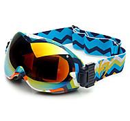 HB Colorful Plaid Frame Double Lens Compressive Snow Googgles