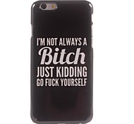 Bitch Design Aluminium Hard Case for iPhone 6 Plus