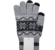 Qianjiatian®Men Snowflakes Touch Gloves for Mobile Phones