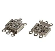 10 millimetri fiore gioielli in argento tono collana braccialetto fibbia gancio di chiusura (10pcs)