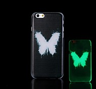 Butterfly Pattern Glow in the Dark Hard Case for iPhone 6