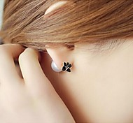 Love Is Your Flower Pearl Double Stud Earrings
