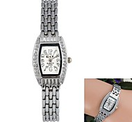 Women's Square Diamante Case Alloy Chain Band Quartz Watch (1Pc)
