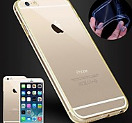 DF® Ultrathin Clear Acrylic Back Case with TPU Bumper for iPhone 6(Assorted Color)