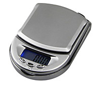 Mini escala de la joyería del bolsillo escala electrónica 500g / 0.1g, 10x7x2.5cm plástico