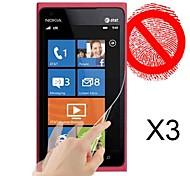 matte Displayschutzfolie für Nokia Lumia 900 (3 Stück)