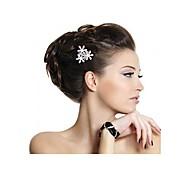 versilbert 3 Blume Strass Kristall Hochzeit Haarkamm Adel Tiara Mode