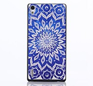 Sunflower Pattern PC Hard Back Case for Huawei Ascend P7