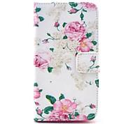 Corpo Completo carteira / Entrada de Cartão / com suporte Flor Couro Ecológico Duro Case Capa Para Huawei Y530
