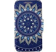 For Nokia Case Card Holder / Flip Case Full Body Case Flower Hard PU Leather Nokia Nokia Lumia 630