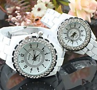 Couple's Round Dial Ceramic Band Quartz Fashion Watch (Assorted Colors) Cool Watches Unique Watches