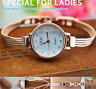 Women's Watch High Quality Rhinestone Round Dial IP Plated Golden Bracelet Strap 50M Waterproof Japan Movt Watch