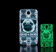For Samsung Galaxy Case Glow in the Dark / Pattern Case Back Cover Case Dog PC Samsung S4 Mini