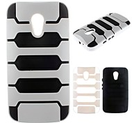 2 in 1 Robot Design PC Full Body Case for Motorola Moto G2/XT1063(Assorted Colors)