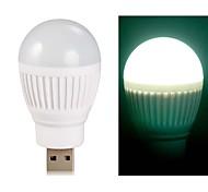 Ball Bulb Shaped Super Bright USB Powered Mini LED Night Light (White)