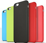 Smooth Silicone Soft Case  for iPhone 6 (Assorted Colors)