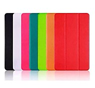 Slim Smart Soft PU Leather Cover Hard Translucent Plastic Shell with Dormancy Stent for iPad Air 2 (Assorted Colors)