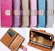 Pour Samsung Galaxy Coque Porte Carte Avec Support Clapet Coque Coque Intégrale Coque Brillant Cuir PU pour Samsung S4