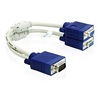 High Definition VGA Male to 2-port VGA Female  Converter Adapter