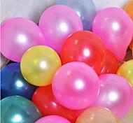 200 Pcs Latex 7 Inch Pearl Small Balloon