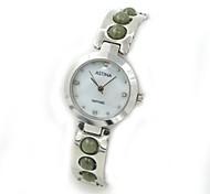 Women's Jade Design Waterproof Steel Bracelet Quartz Watch