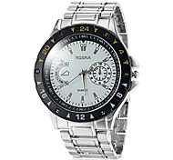 Men's Round Dial Steel Band Quartz Dress Watch