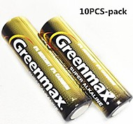 10PCS Greenmax 1.5V AA  Alkaline Batteries