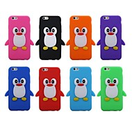 3D Cute Penguin Silicone Soft Case for iPhone 6 (Assorted Colors)