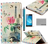 COCO FUN® Rainbow Day Pattern PU Leather Case with Screen Protector and Stylus for Huawei Ascend G6