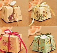 12pcs Unique Wedding Favors Candy Boxes with Ribbon Birthday Christmas Baby Shower Party Chocolate Packaging