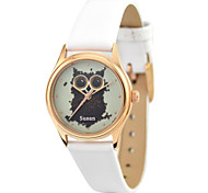 JUST2YOU™  Citizen Movement  Women's The Owl Watch in Gold Case