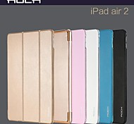 ROCK Ultra-Thin Dormancy Transparent Bracket Auto Sleep and Wake Up Case Cover for iPad Air2(Assorted Colors)