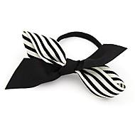 Fashion Striped Fabric Bowknot Hair Ties