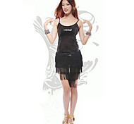 Dancer Dusche Tassel Paillette Sexy Low-cut Beleg Latin Kleid Damen-Kostüm