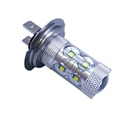 H7 CREE LEDx12 60W  6500K -7000K  White Light LED Bulb for Car (12-24V,1pc)